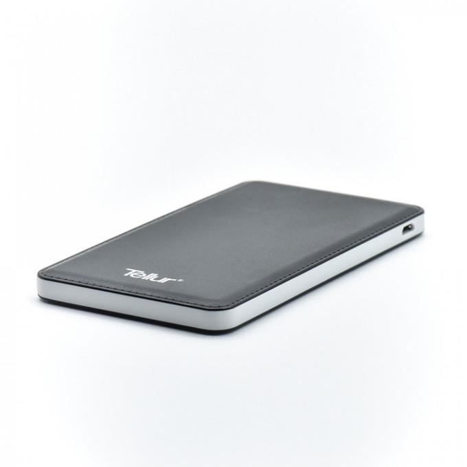 Външна батерия/power bank/ Tellur, 5000mAh, черна, Super Slim image