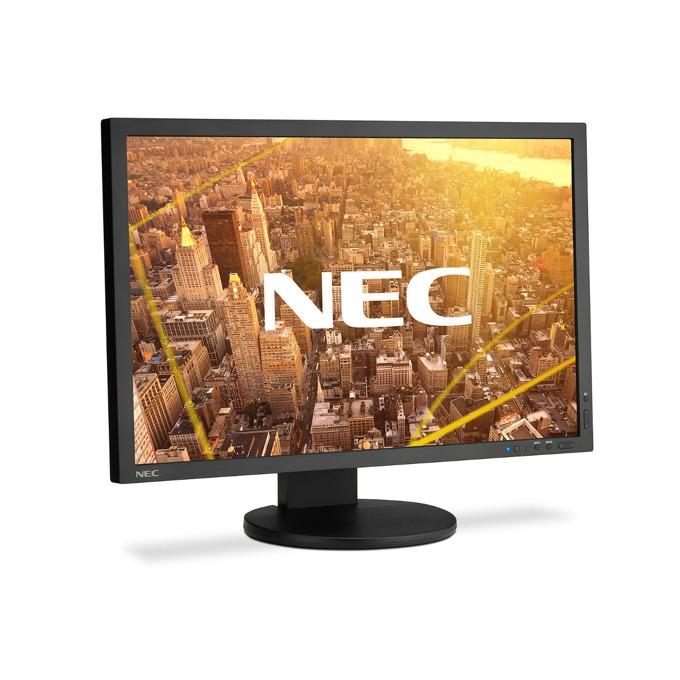"""Монитор NEC PA243W, 24""""(60.96 cm), IPS панел, WUXGA, 8ms, 1000:1, 350 cd/m2, VGA, DisplayPort, DVI-D, HDMI, USB, черен image"""