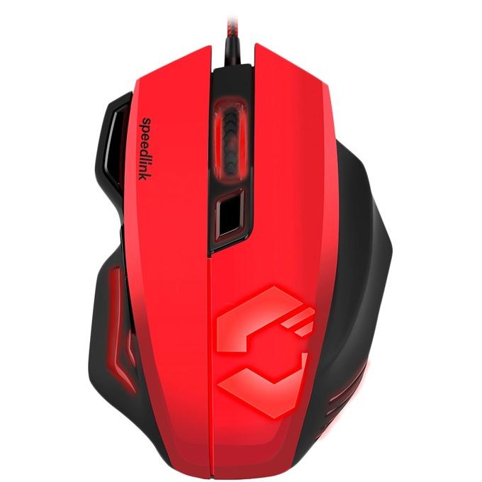 Мишка Speedlink Decus Respec, оптична 5000 dpi, USB, геймърска, 7 бутона, червена image