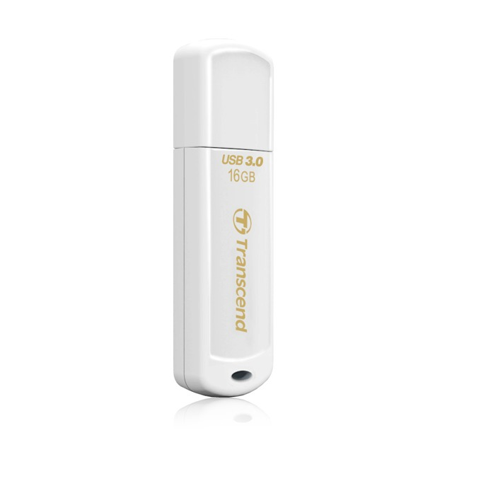 16GB USB Flash Drive, Transcend JetFlash 730, USB 3.0, бяла image