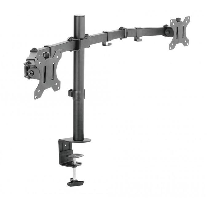 """Стойка за монитор SBOX LCD-352-2, за маса, за екрани от 13"""" (33.02 cm) до 27"""" (68.58 cm), макс. тегло до 10 кг., регулируема, за 2 монитора, черна image"""