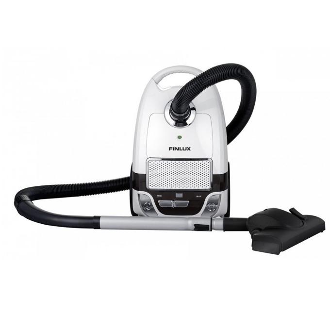 Прахосмукачка Finlux FVC-450W EcoPro AA, с торба, 450 W, 3 л. капацитет на торбата, енергиен клас A++, HEPA филтър, лилава image