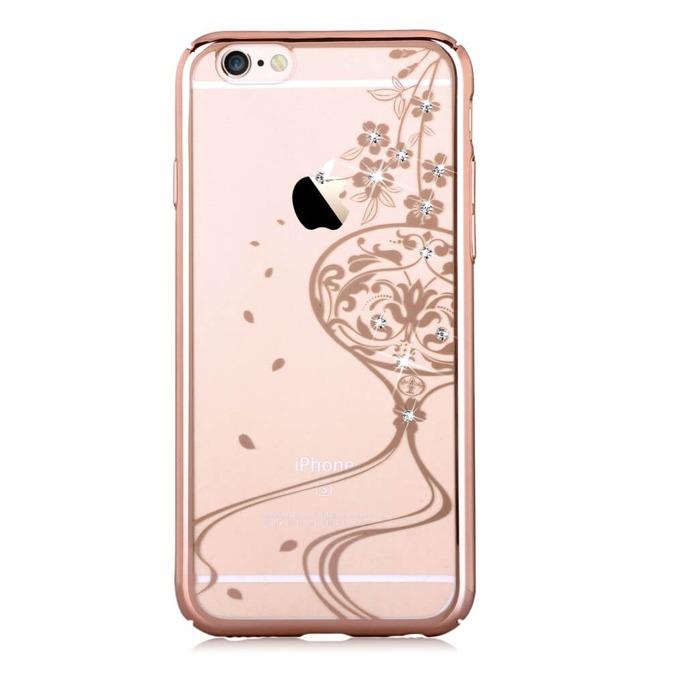 Калъф за Apple iPhone 6/6S, страничен протектор с гръб, поликарбонат, Devia Secret Garde, златист image