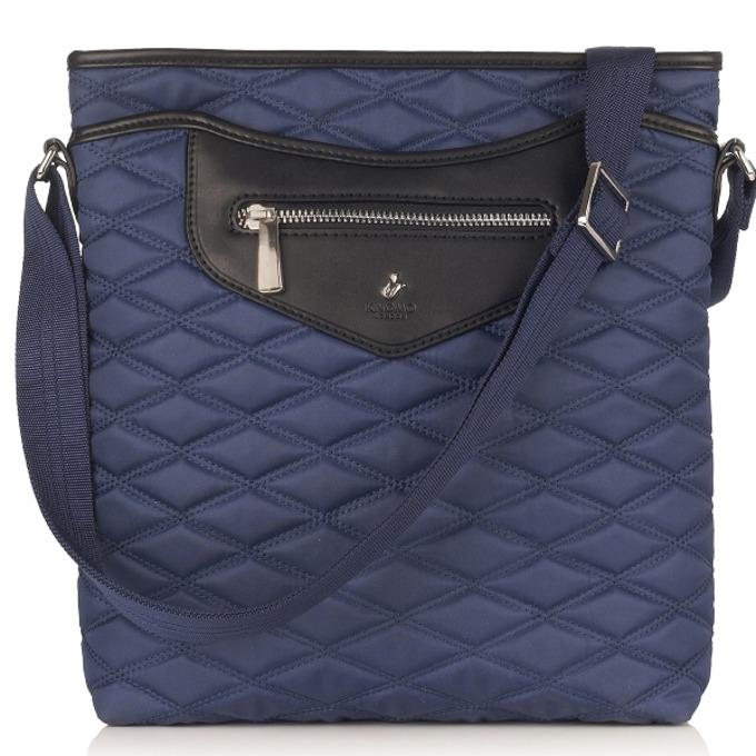 "Чанта за лаптоп Knomo Maple Cross Body Bag, 10.2""(25.9 cm), кожена, тъмносин image"