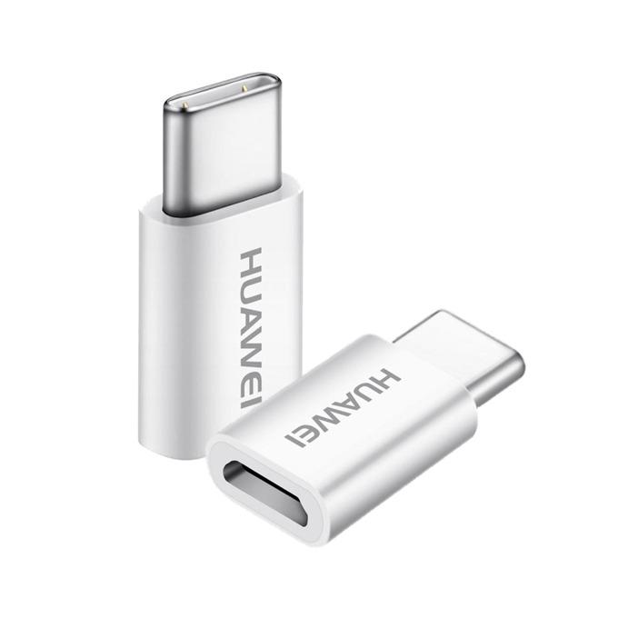 Адаптер Huawei 5V2A, от USB C(м) към USB micro B(ж), бял image