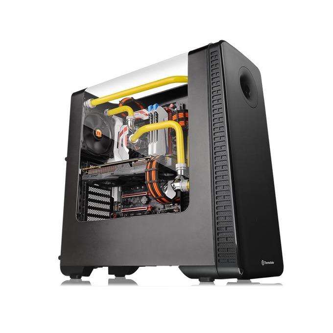Кутия Thermaltake View 28 RGB, ATX/mATX/miniITX, 2x USB 3.0, извит прозорец, RGB подсветка(вграден контролер за управление), черна, без захранване image