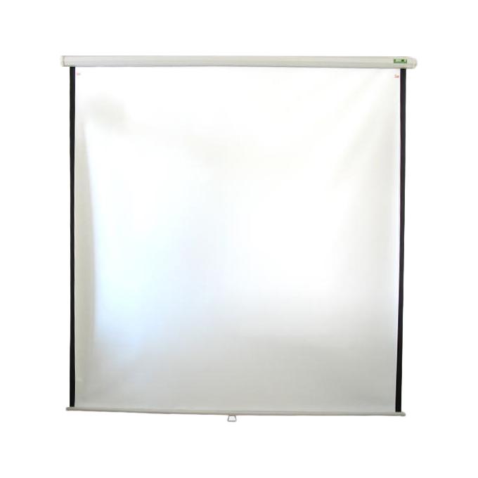 Екран за видео проектор 2 x 2m, окачване на стена