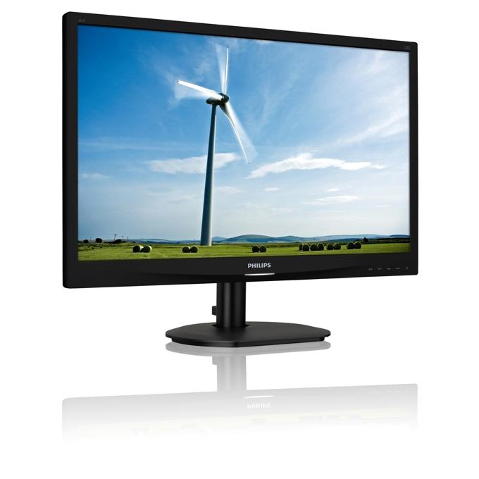 """Монитор Philips 241S4LCB, 24"""" (60.96 cm), TN панел, Full HD, 5ms, 20 000 000:1, 250cd/m2, DVI, D-Sub image"""