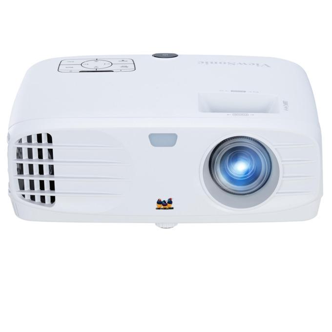 Проектор VIEWSONIC PG705HD, DLP, Full HD(1920x1080), 12000:1, 4000 lm, VGA, HDMI, RS232, S-Video, USB, LAN, бял image