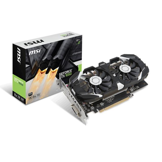 Видео карта Nvidia GeForce GTX 1050, 2GB, MSI GTX 1050 2GT OCV1, PCI-E 3.0, GDDR5, 128 bit, DisplayPort, HDMI, DVI image