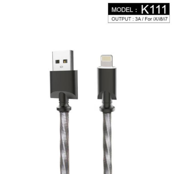 Кабел Kingleen K111, от USB Type A(м) към Lightning(м), 1m, сив image