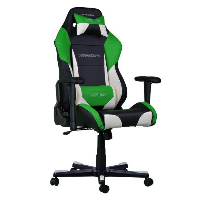 Геймърски стол DXRacer Drifting OH/DF61/NWE, черен/зелен/бял image