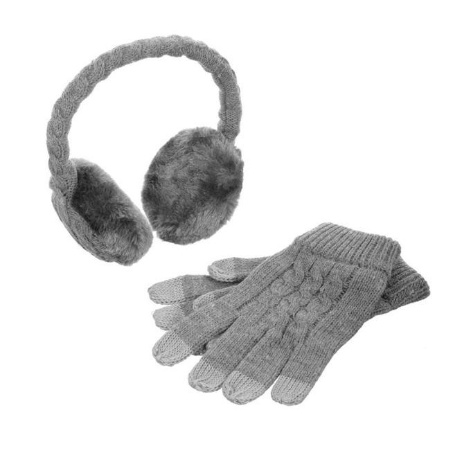 Слушалки KitSound On-Ear Earmuffs & Gloves, 3.5mm jack, 103dB, сиви image