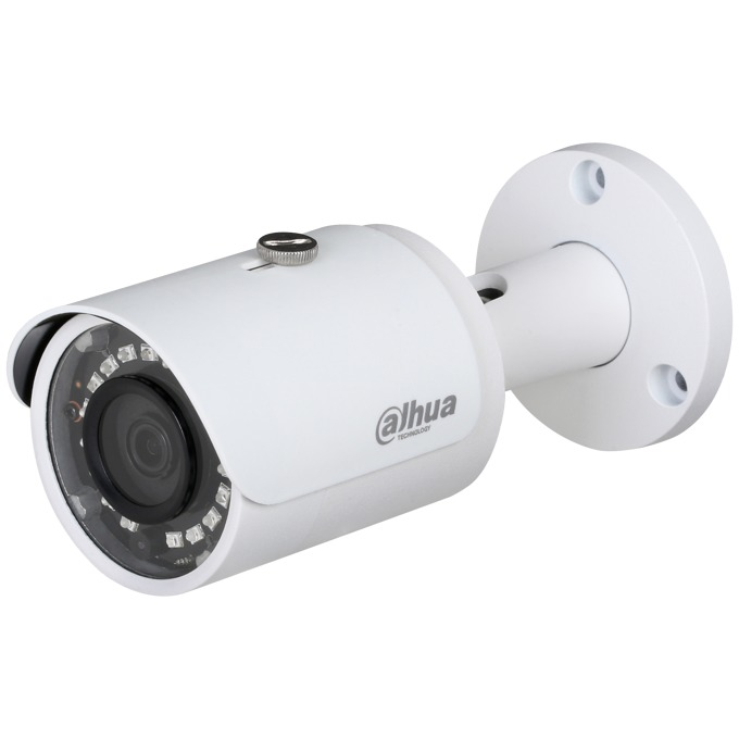 "IP камера Dahua IPC-HFW1020S-0280B, насочена ""bullet"", 1 Mpix(1280x720@20FPS), 2.8 mm обектив, H.264+/H.264, IR осветеност(до 30 метра), IP67 защита от вода, PoE, RJ-45 image"