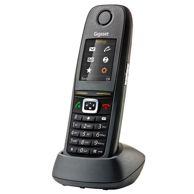 """Безжичен телефон Gigaset R650H PRO, 1.8"""" (4.6cm) TFT цветен дисплей, заключване на клавиатурата, вибрация, функция """"свободни ръце"""", черен image"""