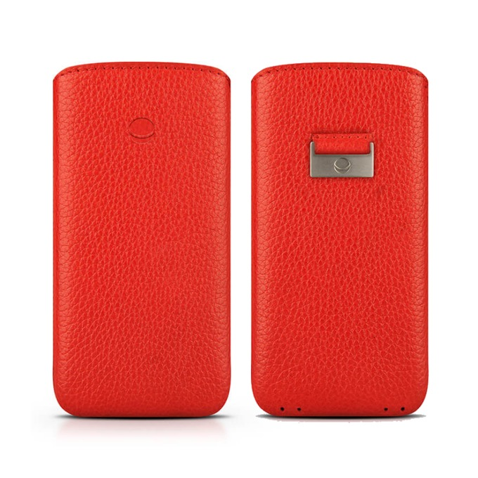 Калъф за Apple iPhone 7/6/6S, джоб, кожен, Beyza Retro Strap, червен image