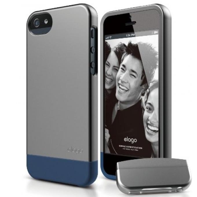 Поликарбонатов протектор Elago S5 Glid за iPhone 5, iPhone 5Se, тъмносив image