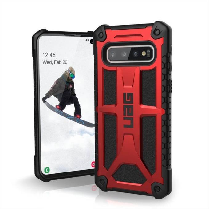 Калъф за Samsung Galaxy S10, хибриден, Urban Armor Monarch 211341119494, удароустойчив, червен image