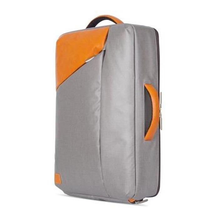 """Раница Moshi Venturo Slim Laptop Backpack за MacBook Pro 15 и лаптопи до 15.4"""" (39.11 cm), еко кожа, удароустойчива, влагоустойчива, удароустойчива, сива image"""