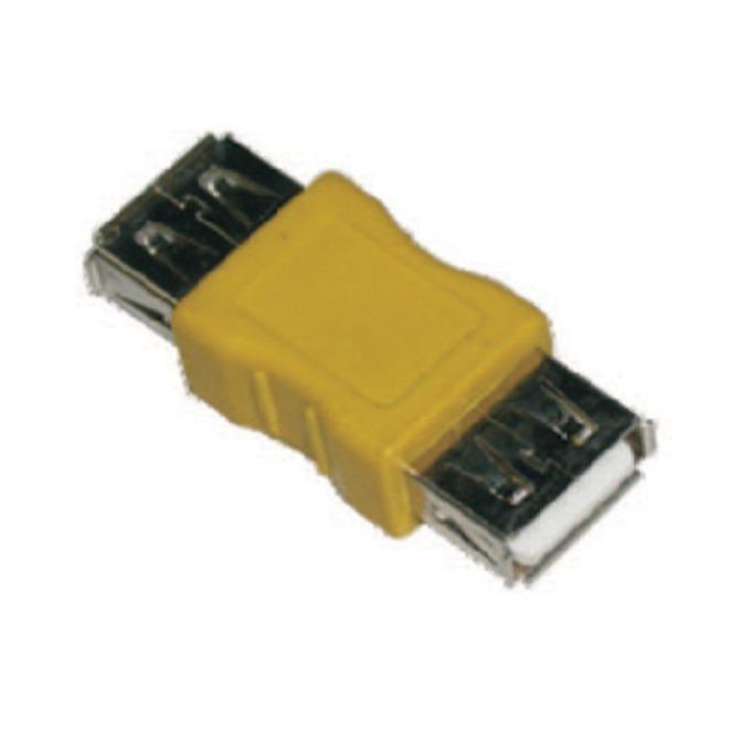 Преходник VCom CA408, от USB A(ж) към USB A(ж), жълт image