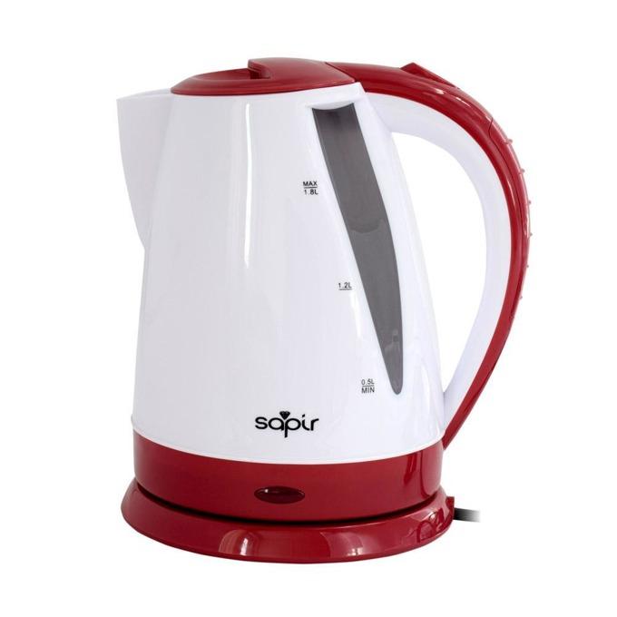 Електрическа кана SAPIR SP 1230 B, вместимост 1.8 литра, 1800W, бял/червен image