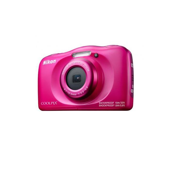 "Nikon Coolpix W100(розов) в пакет с чанта, 3x оптично увеличение, 13.2 Mpix, 2.7"" (6.8cm), Wi-Fi, SD, SDHC, SDXC слот, microHDMI(Type D), microUSB, устойчив на прах/вода/удари(IPX8/IP6X) image"
