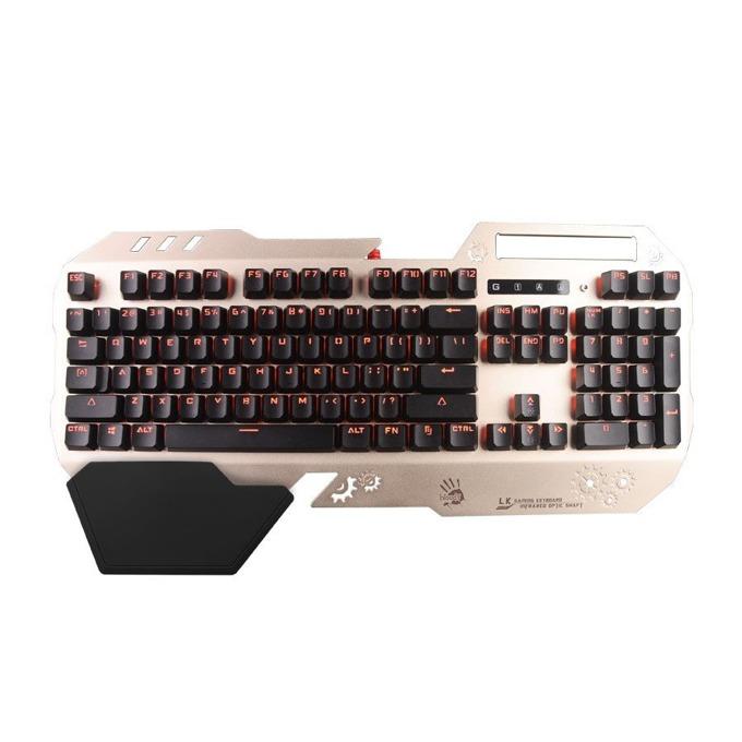 Клавиатура A4Tech B860, гейминг, подсветка, златиста, USB image