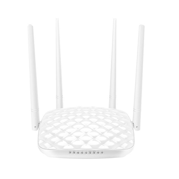 Рутер Tenda FH456, 300Mbps, 2.4GHz(300 Mbps), Wireless N, 3x LAN100, 1x WAN100, 4x 5dBi външни антени image