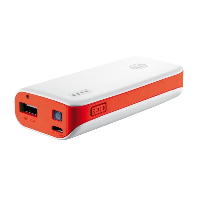 Външна батерия, TRUST Power Bank 4400 (19856), micro-USB, бяла с червено image