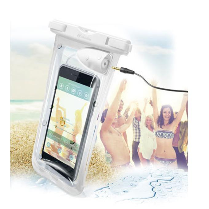 """Водоустойчив калъф за мобилни устройства до 5,7""""(14,47cm), с жак 3,5мм, бял image"""