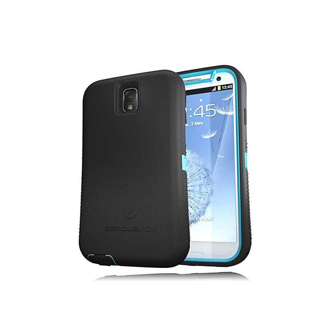 Протектор Zerolemon за Samsung Galaxy Note 3, черен със син кант image