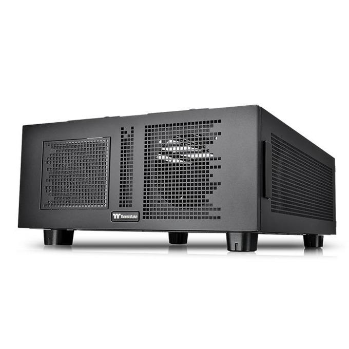 Кутия Thermaltake Core P200 Black CA-1F4-00D1NN-00, ATX, 4x USB 3.0, черна, без захранване  image