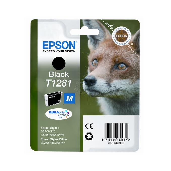 ГЛАВА ЗА EPSON STYLUS S22/SX125/420W/425W/BX305F - Black - P№ C13T12814010 - заб.: 5ml. image