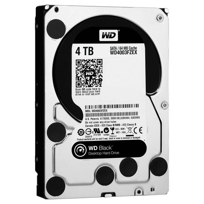 """4 TB WD Black, SATA 6Gb/s, 7200 rpm, 3.5""""(8.89 cm) image"""