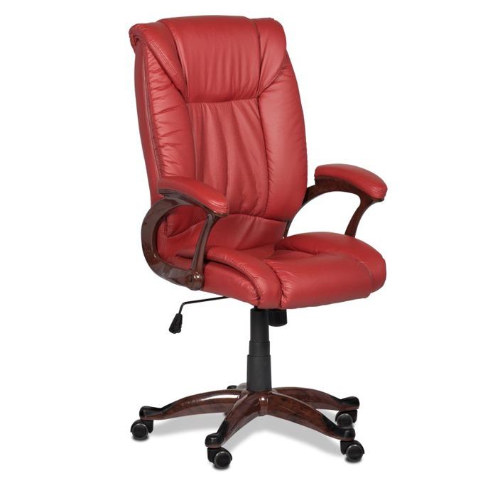 Директорски стол Carmen 6052, вишнево-червен image