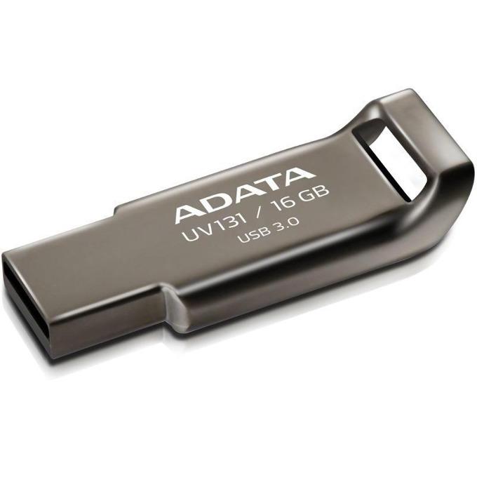 16GB USB Flash Drive, A-Data DashDrive UV131, USB 3.0, сива image
