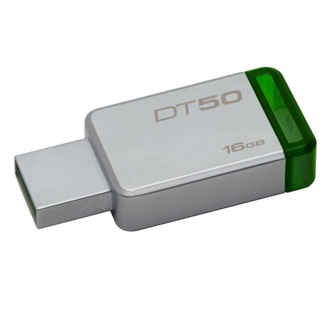 Памет 16GB USB Flash Drive, Kingston DataTraveler 50, USB 3.0, сребриста image