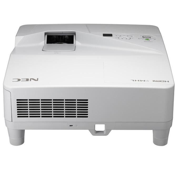 Проектор NEC UM351Wi-MP, LCD, WXGA (1280x800), 6000:1, 3500 lm, VGA, HDMI, RS232, RCA, LAN, бял image