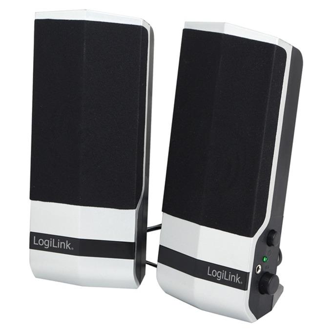 Тонколони LogiLink SP0026, 2.0, 4.8W(2.4W+2.4W), USB, бяло и черно image