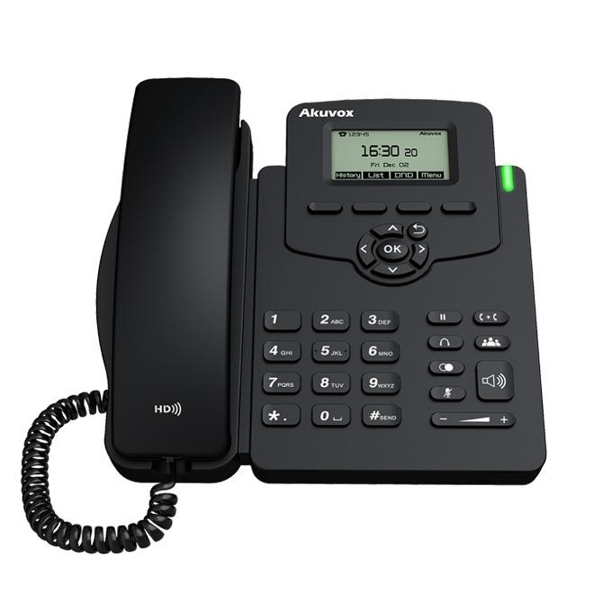 VoIP Телефон, Akuvox SP-R50P, 132*64-pixel екран, PoE image
