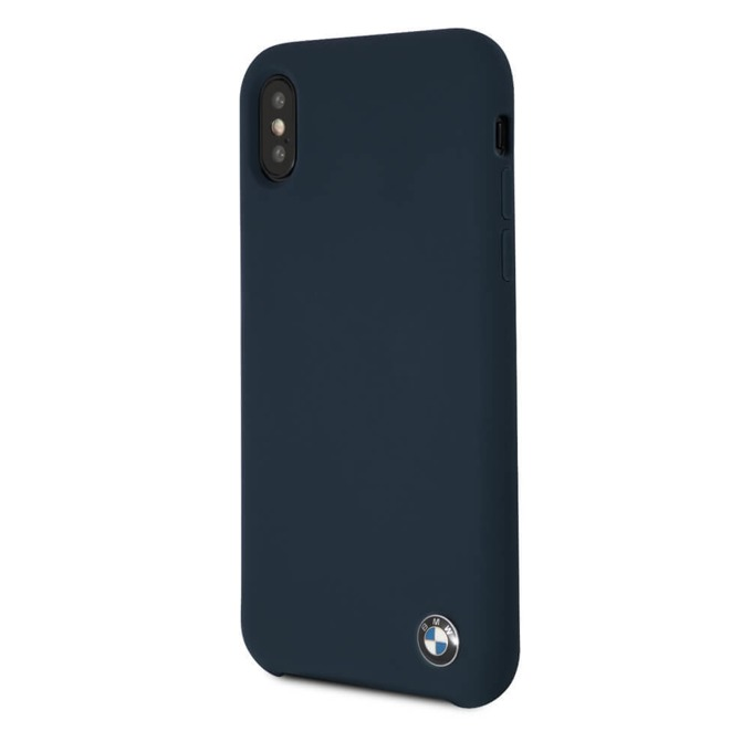 Калъф Apple iPhone X, страничен протектор с гръб, термополиуретанов(TPU), BMW Silicone Case, тъмносин image