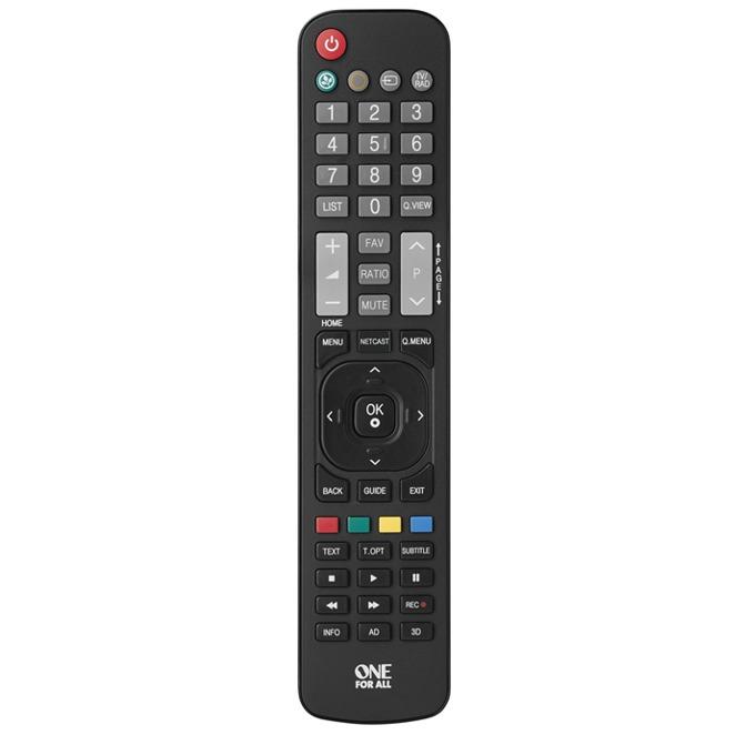 Дистанционно One For All URC1911, съвместимо с всички LG телевизори, IR обхват 15 метра, 2 х AAA, 125g image