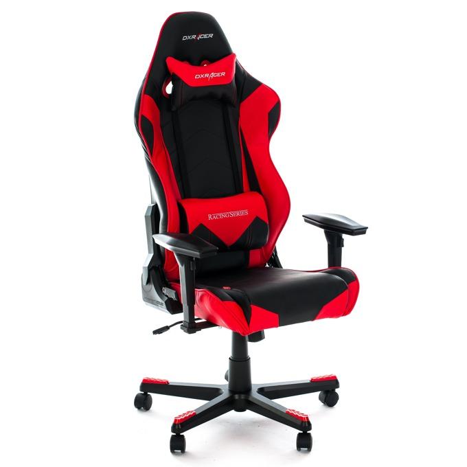 DXRacer RACING Gaming Chair - черен/червен  image
