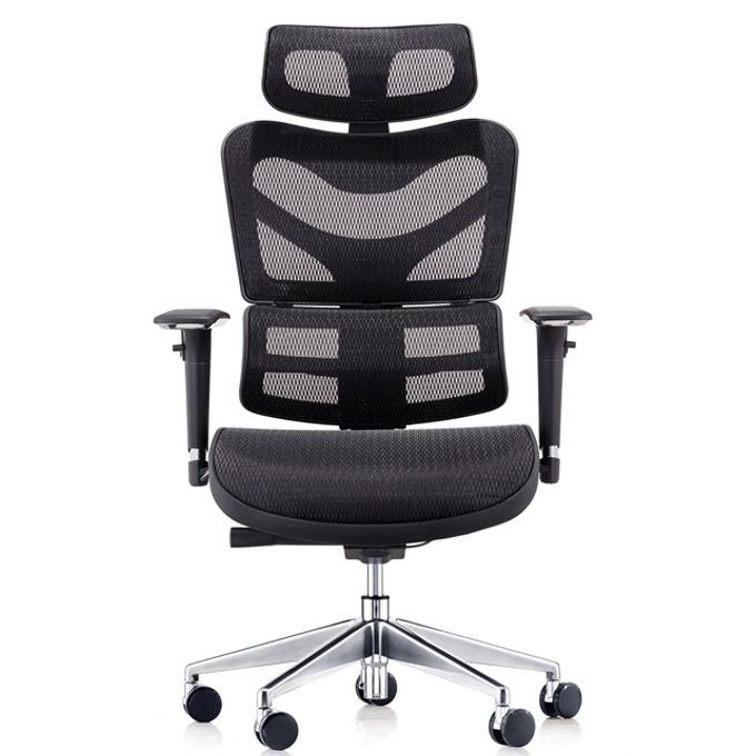 Работен стол RFG TECH@MAX (ON4010200095), меш, 250 кг. максимално натоварване, алуминиева база, газов амортисьор, черен image