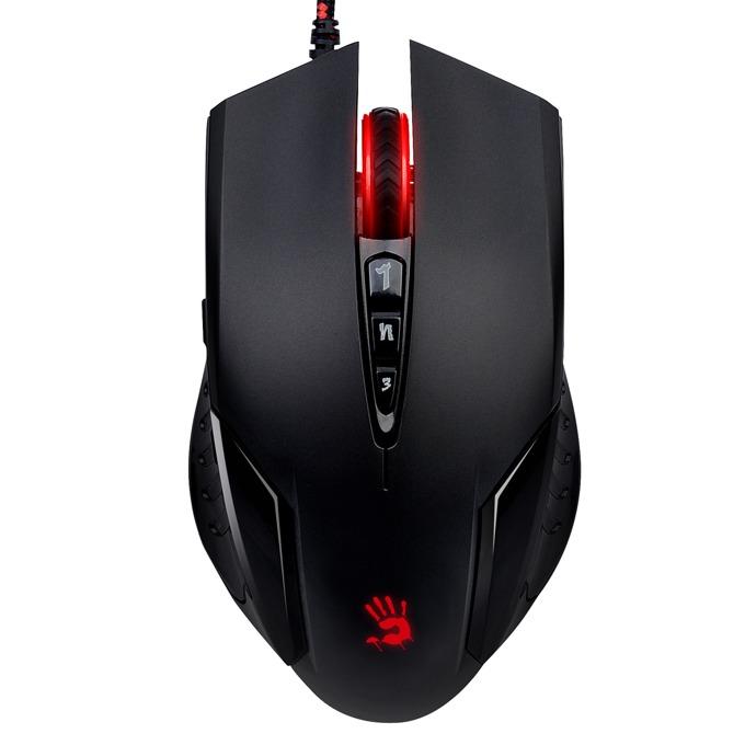 Мишка A4Tech Bloody V5m, оптична (3200dpi), 8 програмируеми бутона, USB, черна, гейминг image