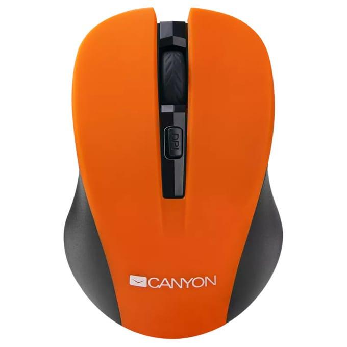 Мишка Canyon CNE-CMSW1, безжична, оптична (1200 dpi), USB, оранжева image