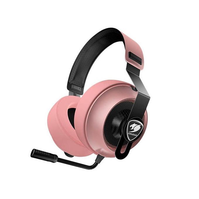 Слушалки Cougar Phontum Essential, гейминг, микрофон, 1.9m кабел, розови image