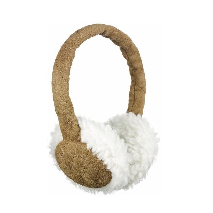 Слушалки KitSound Sheepskin Earmuffs, кафяви, с ушанки image