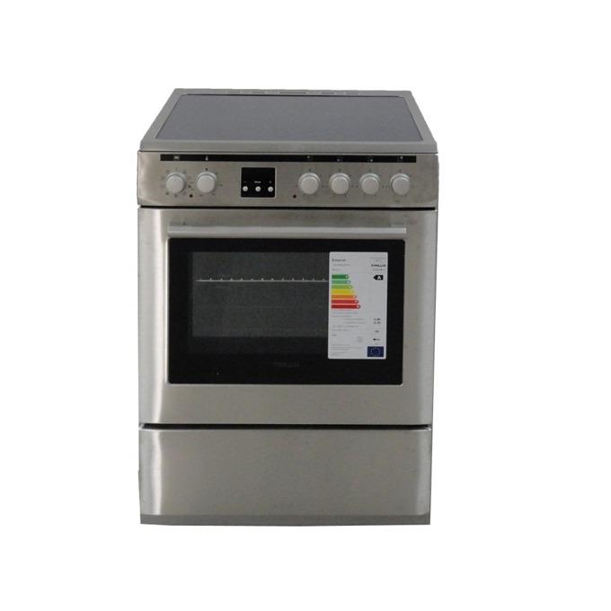 Готварска печка Finlux FLCM 6000A IX, клас A, 56 л. обем, 8 функции, керамичен плот, инокс image