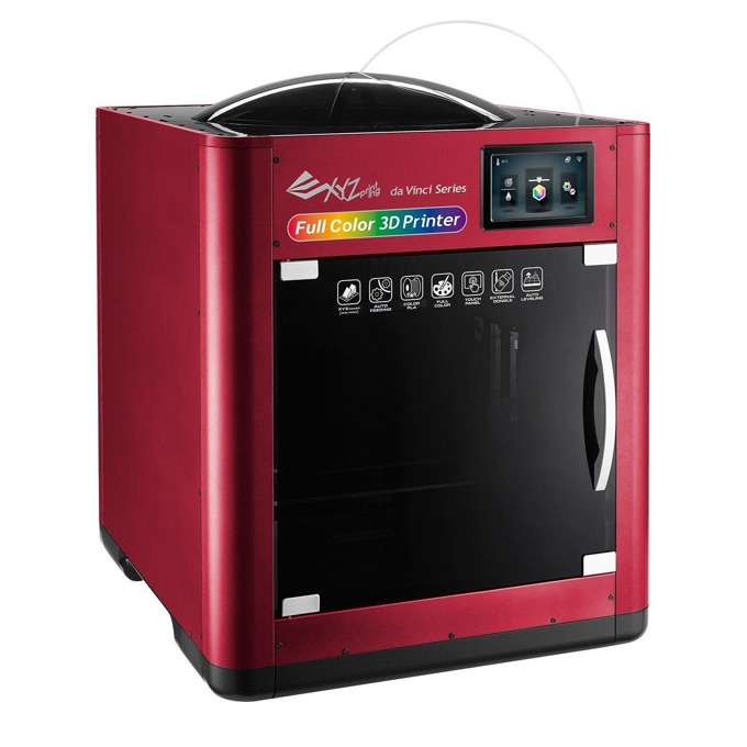 """3D принтер XYZPrinting Da Vinci Color 3FC1XXEU01B, FFF метод на печат, 5.0""""(12.70 cm) сензорен дисплей, Wi-Fi, USB 2.0 image"""